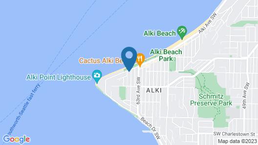 Magpie on Alki Map