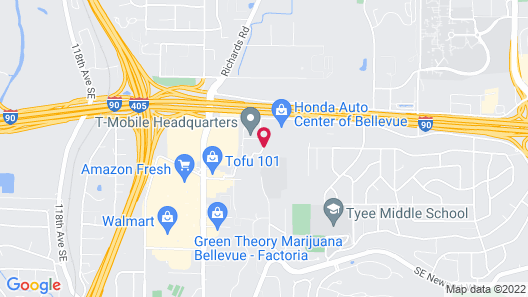 Extended Stay America Seattle-Bellevue-Factoria Map