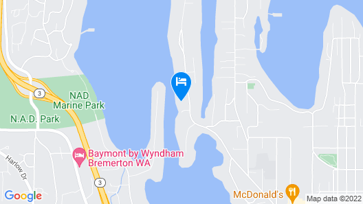Peaceful Waterfront Retreat 30-minute Ferry Ride From Seattle! Map