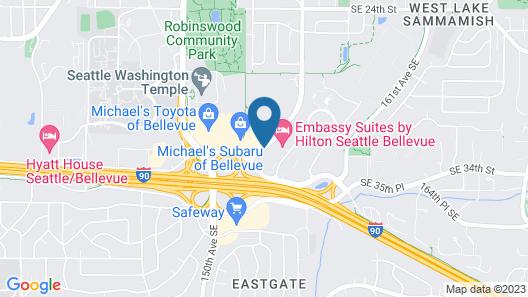Quality Inn Bellevue Map