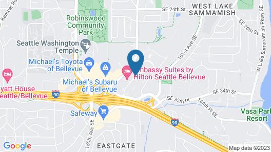 Embassy Suites by Hilton Seattle Bellevue Map