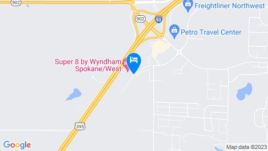 Super 8 by Wyndham Spokane/West Map