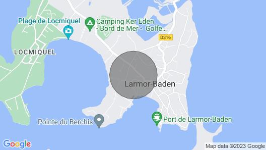 Promo ! 5' à Pied de la Plage, Logis Gwez Palm au Cœur du Golfe Du Morbihan Map