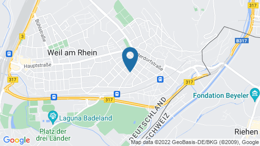 Hotel Go2Bed Weil/Basel Map