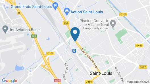 Studios near Basel Airport - RM 114 Map