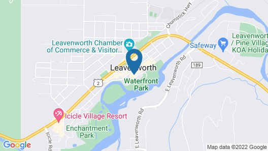 LOGE Leavenworth Downtown Map
