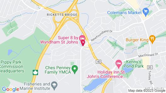 Super 8 by Wyndham St Johns Map