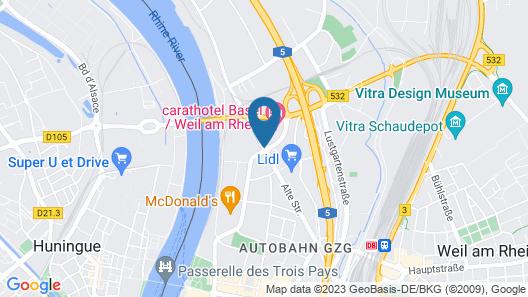 Carathotel Basel Map