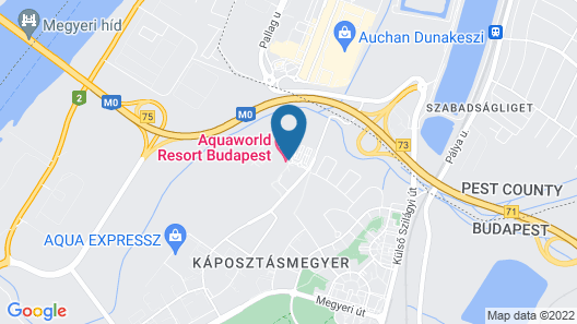 Aquaworld Resort Budapest Map