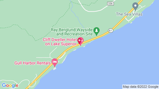 The Cliff Dweller on Lake Superior Map