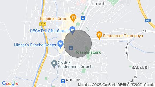 Helle, moderne und zentral gelegene Wohnung Map