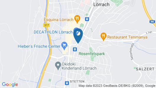 Hostel Heimathafen Lörrach Map