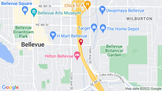 Extended Stay America - Seattle - Bellevue - Downtown Map