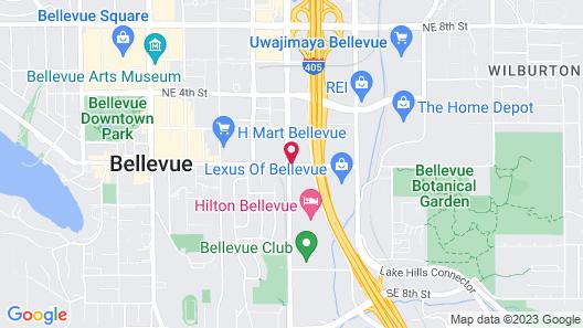 Red Lion Hotel Bellevue Map