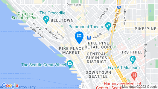 The Charter Hotel Seattle, Curio Collection by Hilton Map