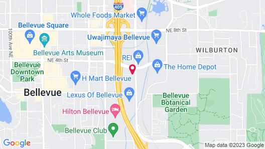 Hampton Inn & Suites Bellevue Downtown-Seattle, WA Map