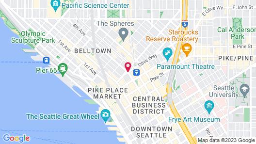 Mayflower Park Hotel Map