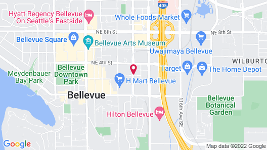 Seattle Marriott Bellevue Map