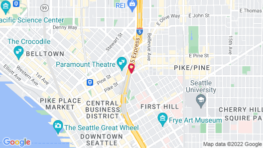 Homewood Suites Seattle Convention Center/Pike Street Map
