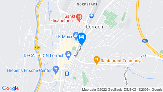 Steigenberger Hotel Stadt Lörrach Map
