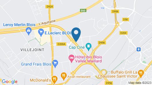 Brit Hotel Blois - Le Préma Map