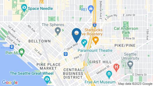 Hyatt Regency Seattle Map