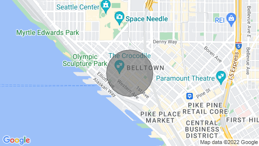 Top Floor Penthouse!!!  Pool, Views of Bay and Space Needle, Downtown pike market Map