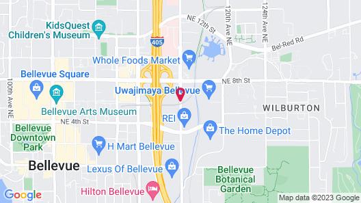 Hotel 116, A Coast Hotel Bellevue Map