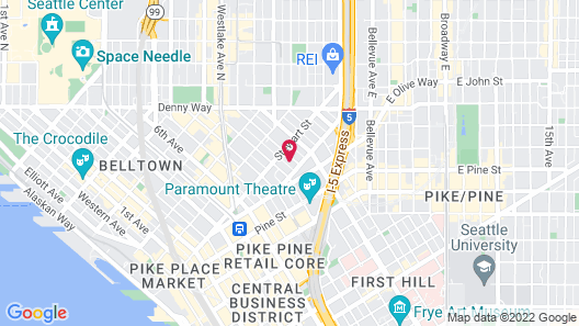 Residence Inn by Marriott Seattle Downtown/Convention Center Map