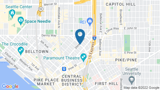 Hilton Garden Inn Seattle Downtown Map