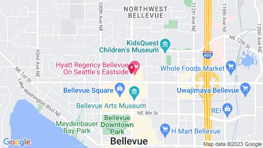 Hyatt Regency Bellevue Map