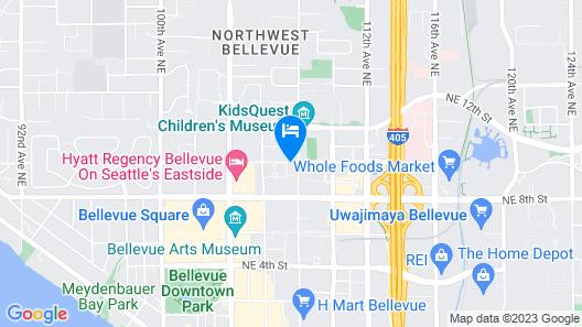 Hilton Garden Inn Seattle Bellevue Downtown Map