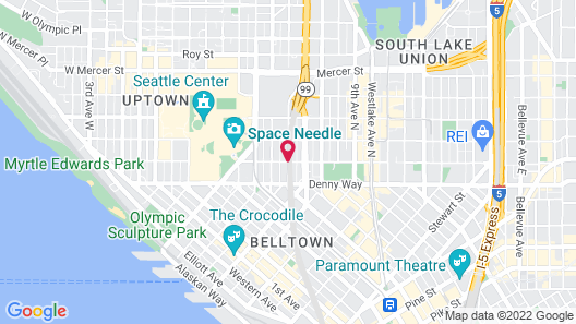 Travelodge by Wyndham Seattle By The Space Needle Map