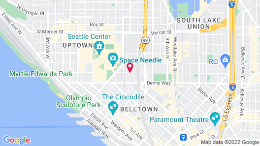 Executive Inn by the Space Needle Map