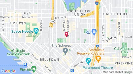 citizenM Seattle South Lake Union Map