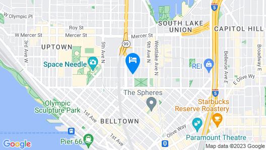 Holiday Inn Seattle Downtown, an IHG Hotel Map