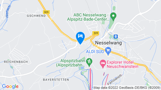 Hotel Nesselwanger Hof Map