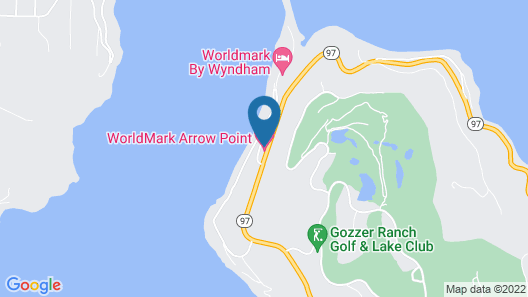 Amazing Lake Front Getaway - Arrow Point! Map