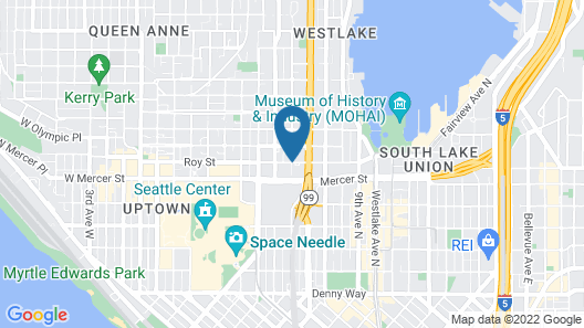 Four Points by Sheraton Downtown Seattle Center Map