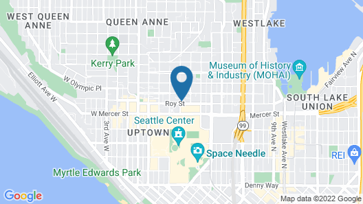 Staypineapple, The Maxwell Hotel, Seattle Center Seattle Map