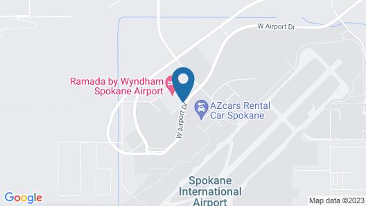Ramada by Wyndham Spokane Airport Map