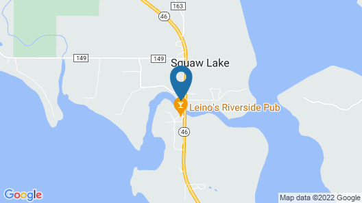 The Lodge; Sleeps up to 24 People. Located on the River With Great Fishing Map