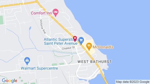 Quality Inn & Suites Bathurst Map