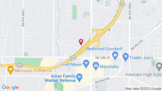 Residence Inn by Marriott Seattle Bellevue Map