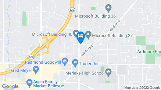 Extended Stay America Suites Seattle Redmond Map