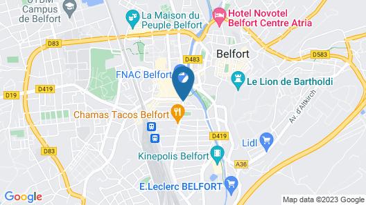 Les Capucins Map