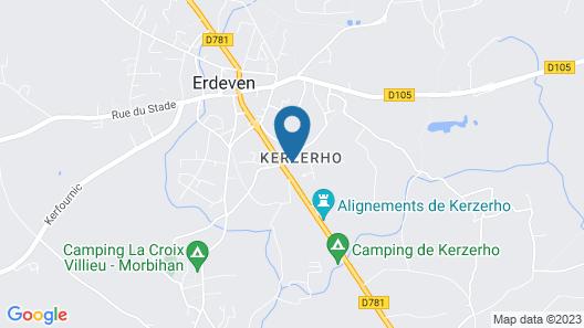 Les Chambres De Kerzerho Map