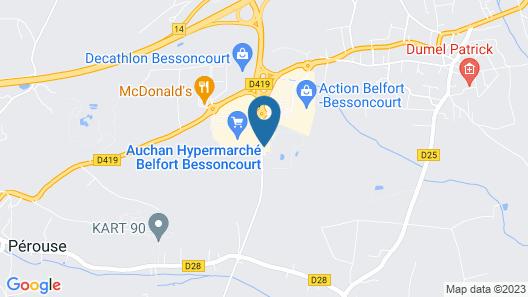 B&B Hotel Belfort Bessoncourt Map