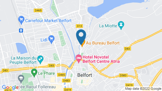 Quality Hotel Belfort Centre & Spa Map