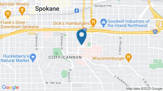 Hampton Inn & Suites Spokane Downtown-South Map